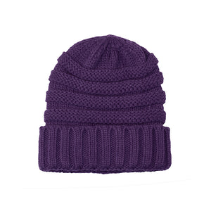 Knitted Beanie purple