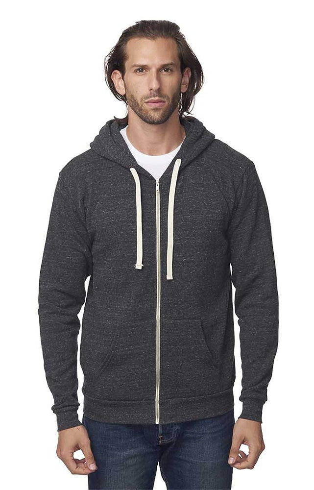 Eco Triblend Fleece Full Zip Hoodie // USA Made