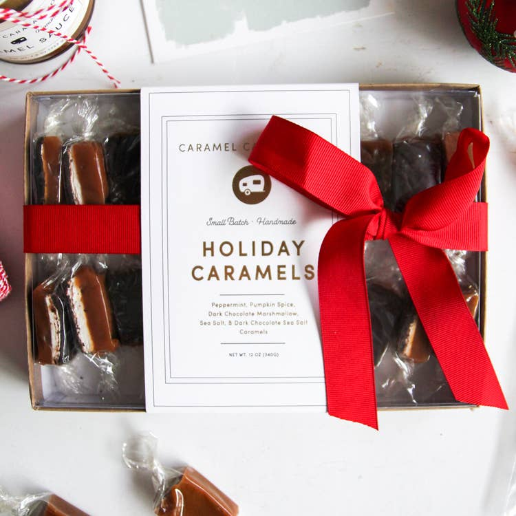 Holiday Variety Caramels - 20 Piece Box