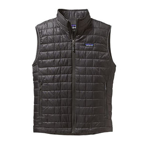 Patagonia Men's Nano Puff Vest in forge grey