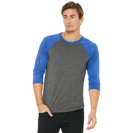 Bella+Canvas Unisex 3/4 Sleeve Baseball Shirt