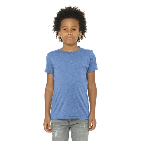 Bella+Cavas Youth Triblend Short Sleeve Tee