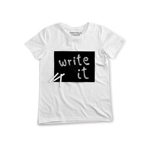 Writable T-Shirt (Ladies') in white