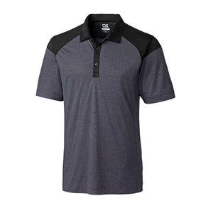 Cutter & Buck Men's Chelan Colorblock Polo in Charcoal Heather