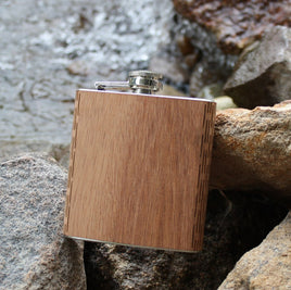 Wooden + Stainless Flask // Hip