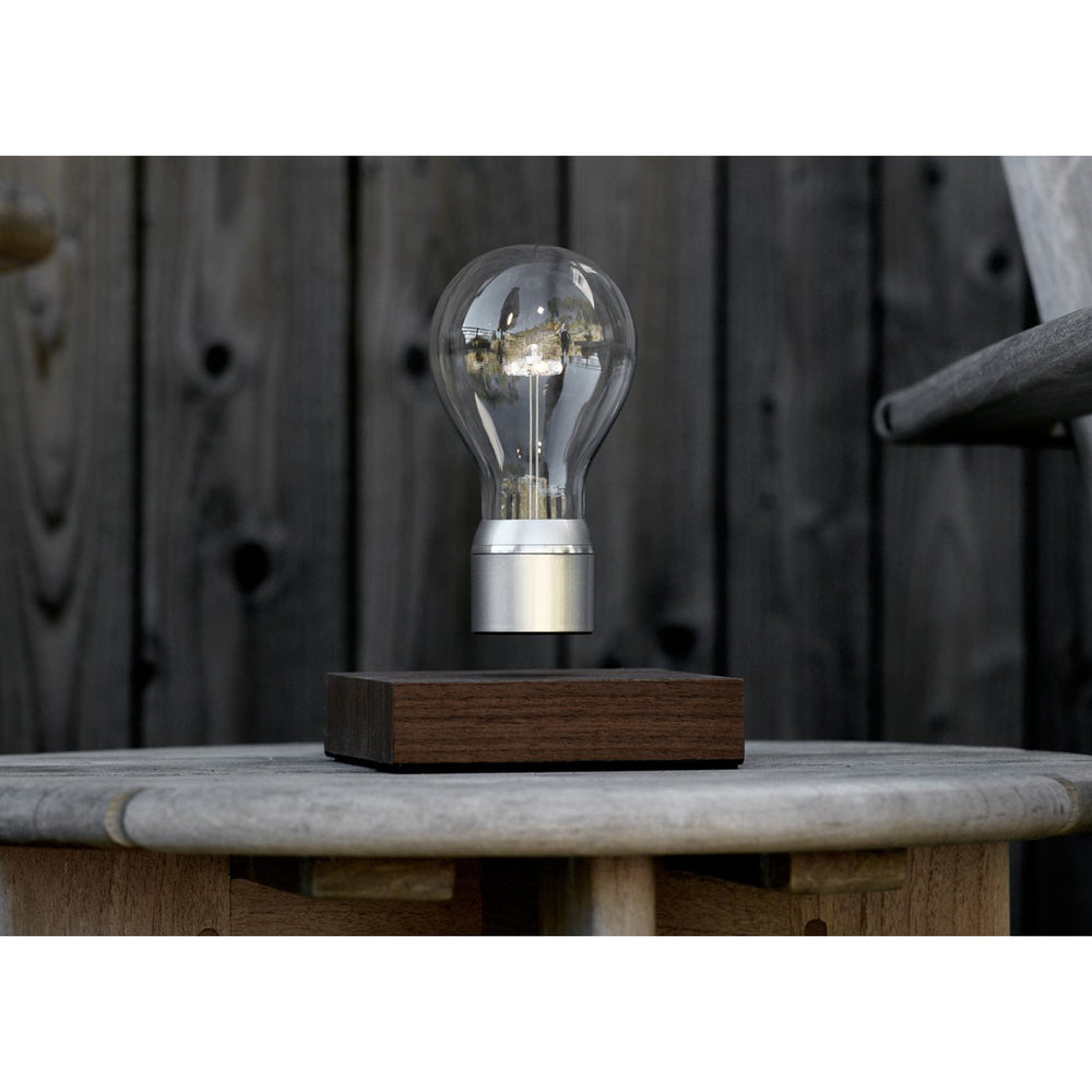 Flyte Edison Floating Bulb in walnut and chrome