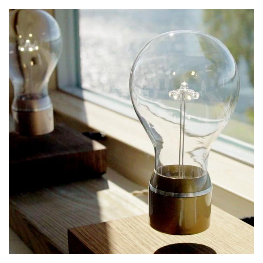 Flyte Edison Floating Bulb in oak and copper