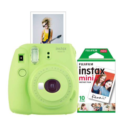FujiFilm Instax Mini 9 Instant Camera with Film in lime green