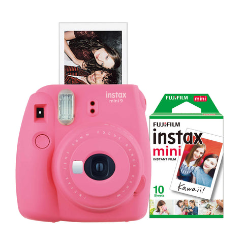 FujiFilm Instax Mini 9 Instant Camera with Film in pink