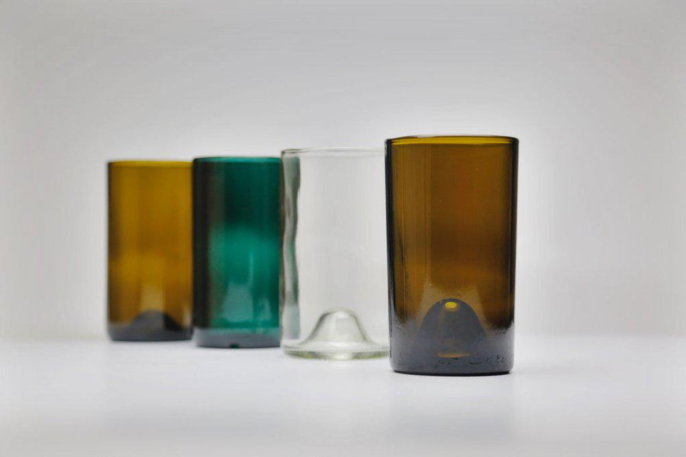 Recycled Glasses - Set of 4 // 16 oz