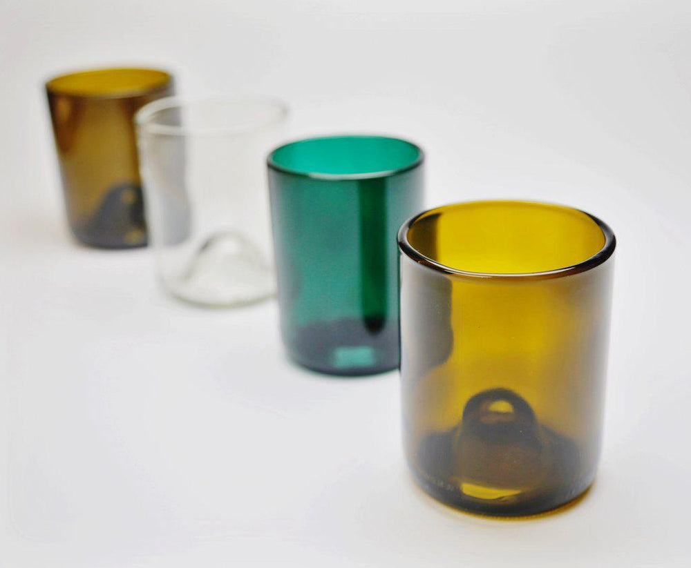 Recycled Glasses - Set of 4 // 12 oz