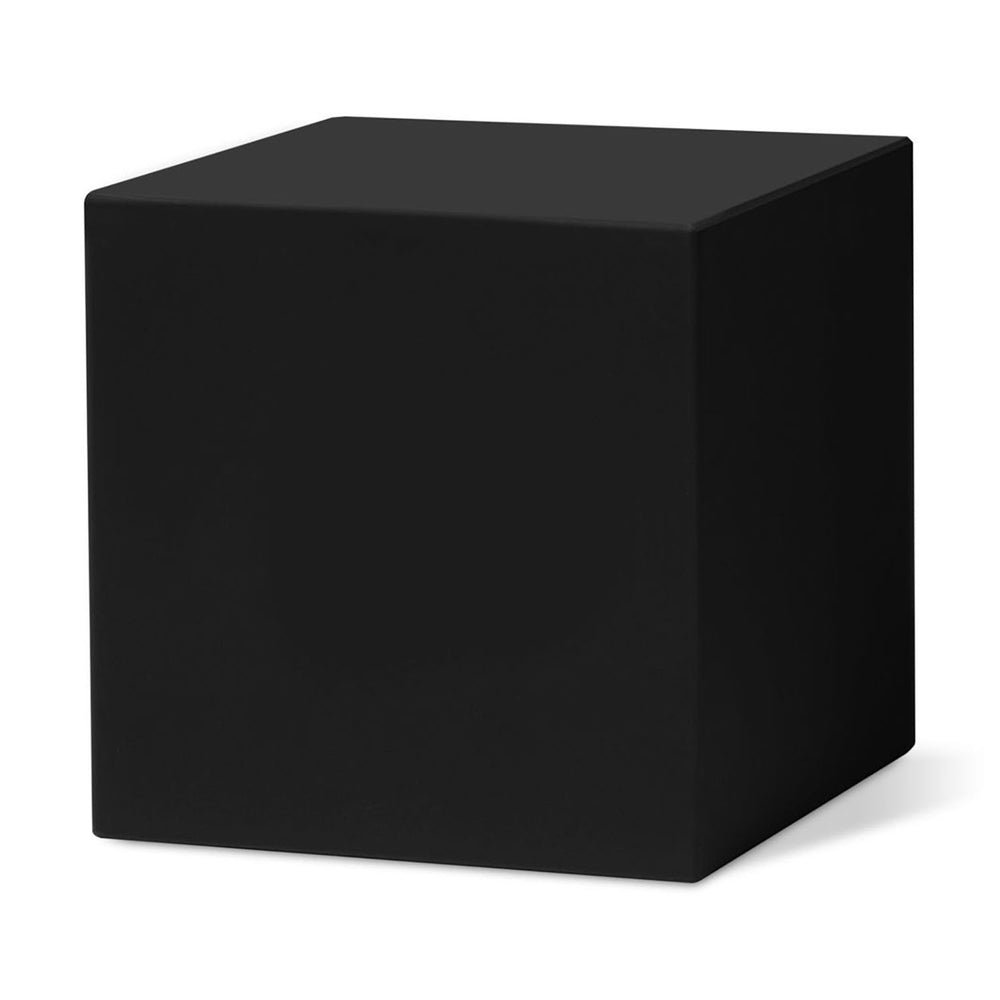 MoMA Cube Clock blank display in black