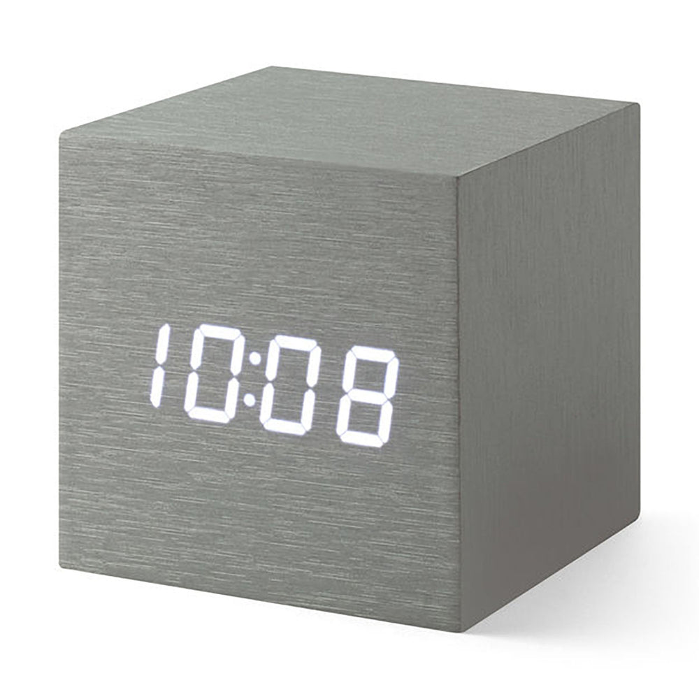 MoMA Cube Clock in aluminum
