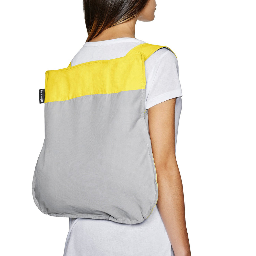 Notabag Original backpack in Grey and yellow