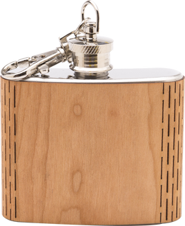 Wooden + Stainless Flask // Keychain