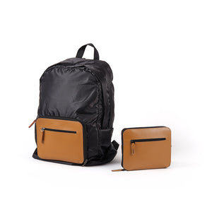 Lexon Packable BackPack in cognac