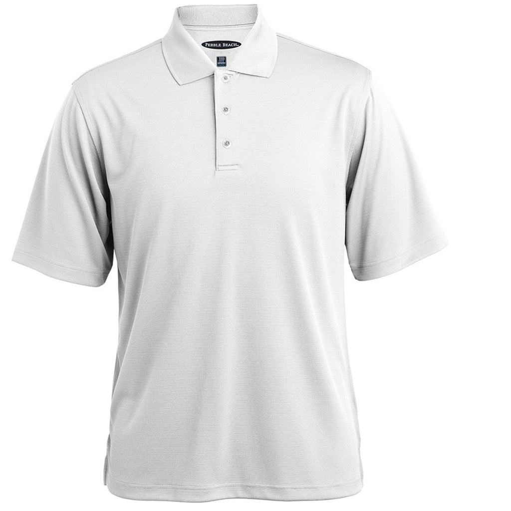 Pebble Beach Men's Horizontal Textured Polo