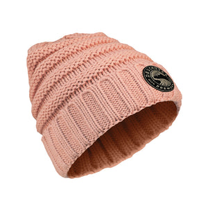 Knitted Beanie pink decorated
