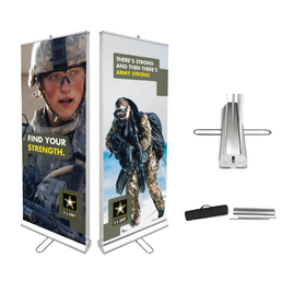 Retractable Banner Stand Set // Double-Sided
