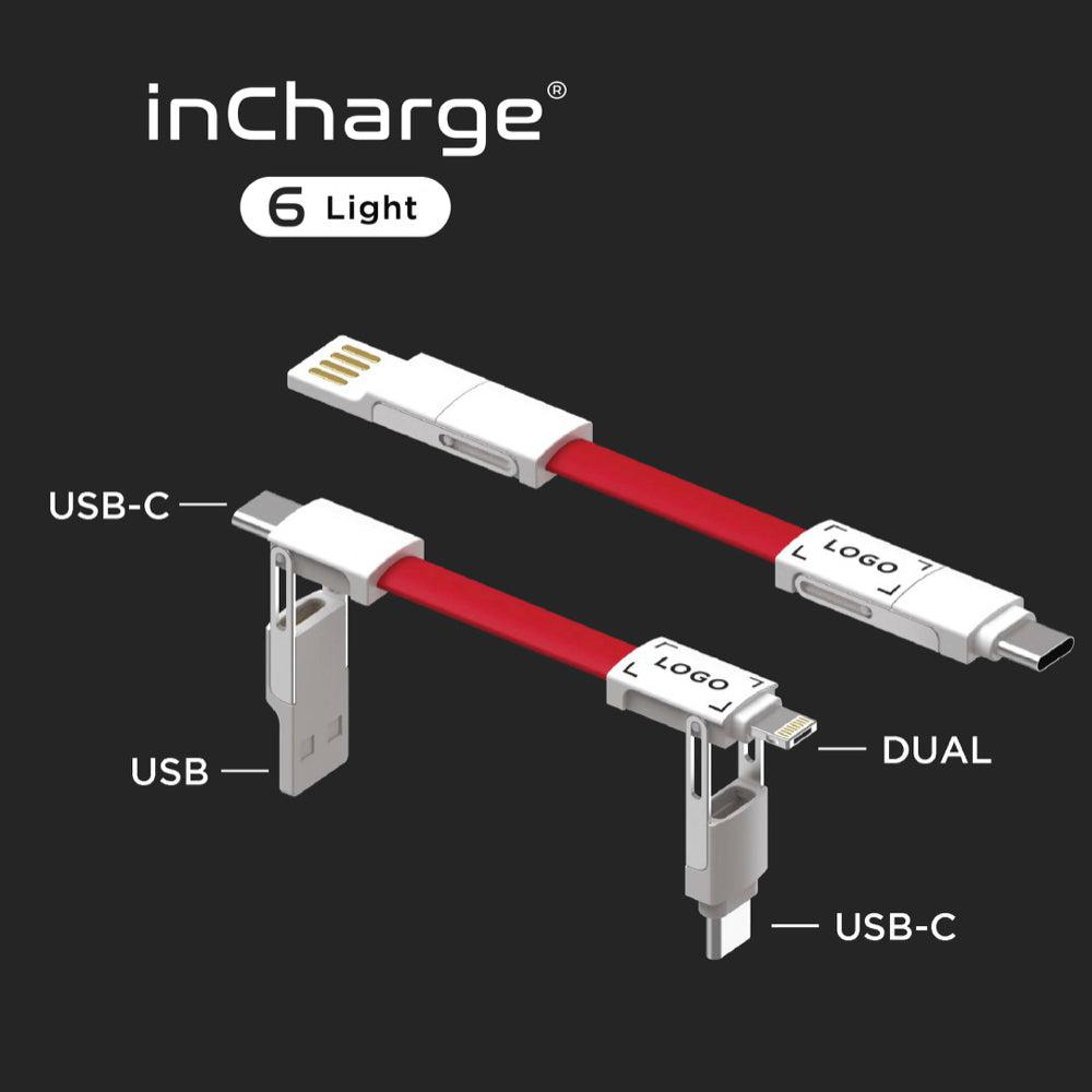 inCharge 6 Light Keyring Charging Cable