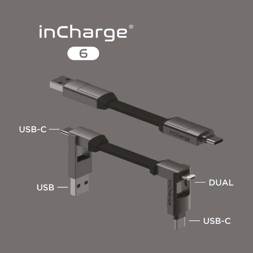 inCharge 6 Charging Keyring Cable