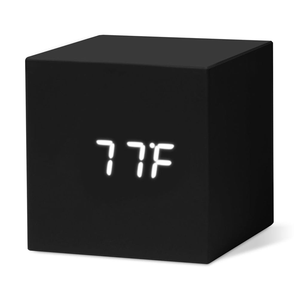 MoMA Cube Clock in black