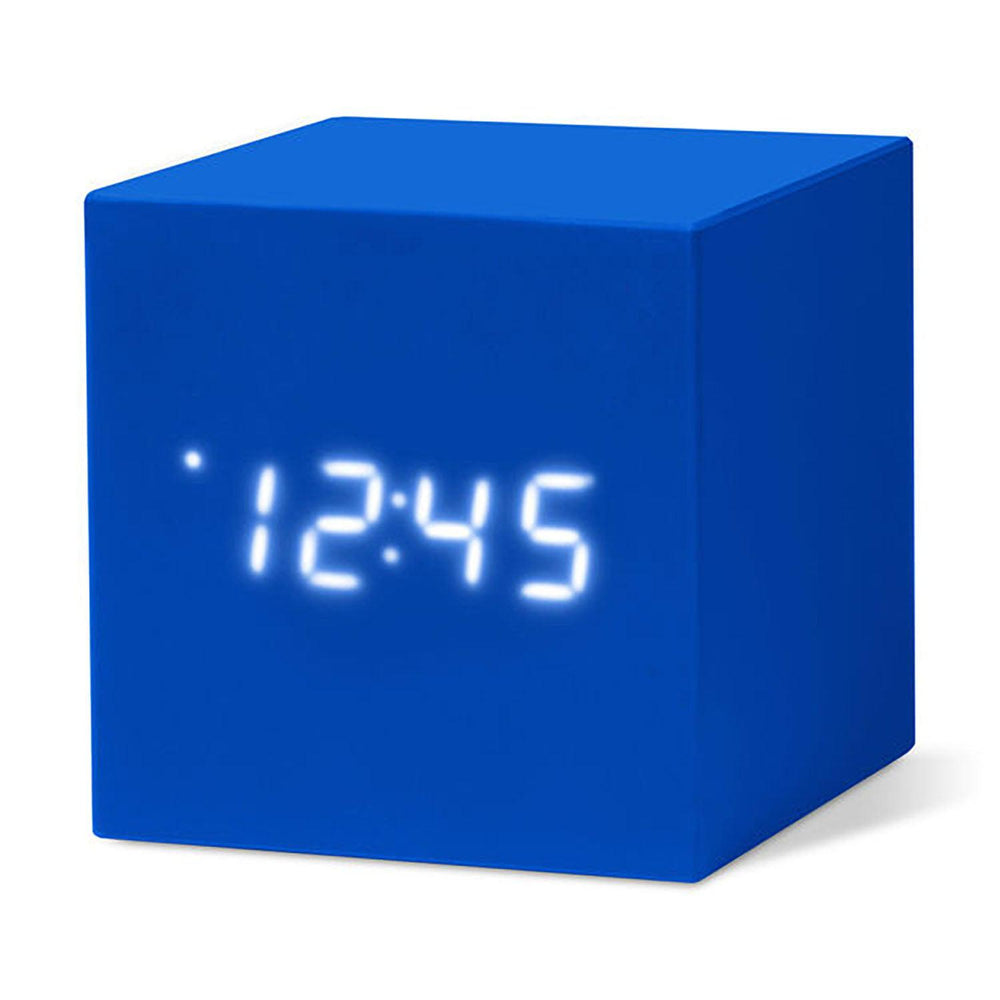 MoMA Cube Clock in blue