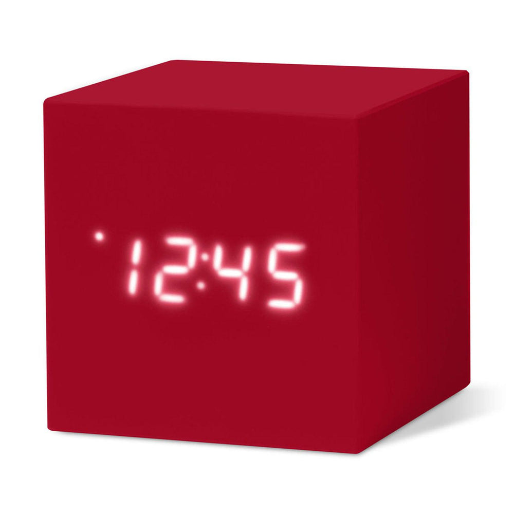 MoMA Cube Clock in red