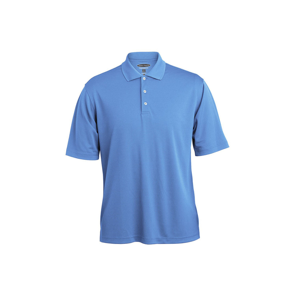 Pebble Beach Grid Texture Polo // Men's