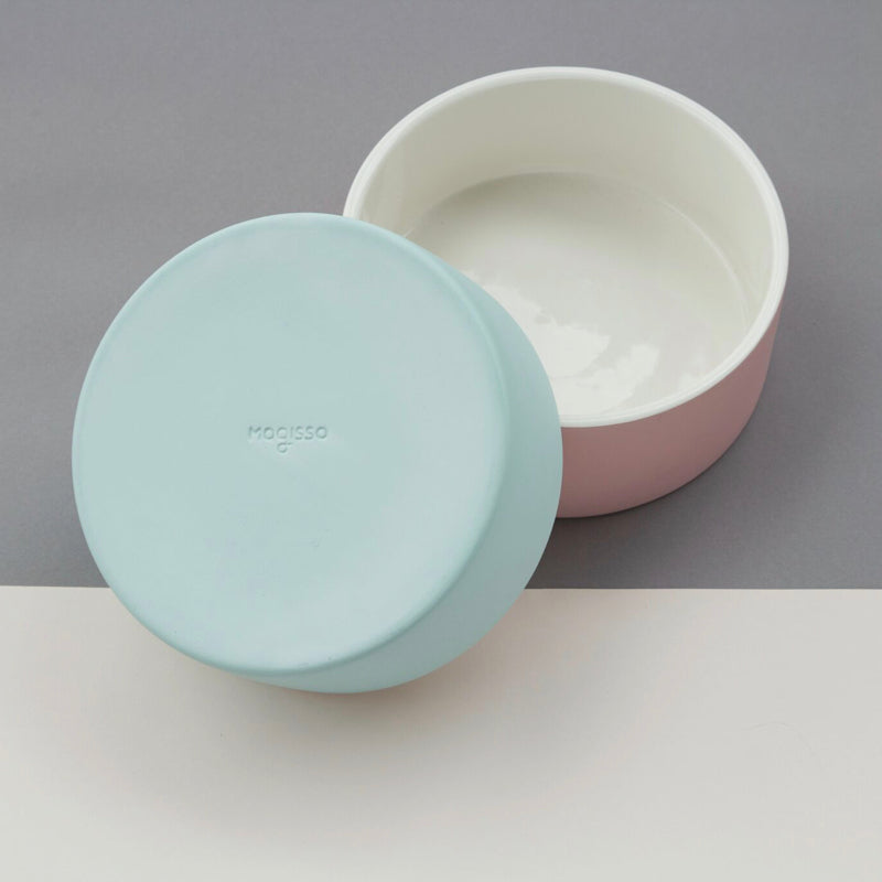Magisso Pet Water Bowl blue and pink