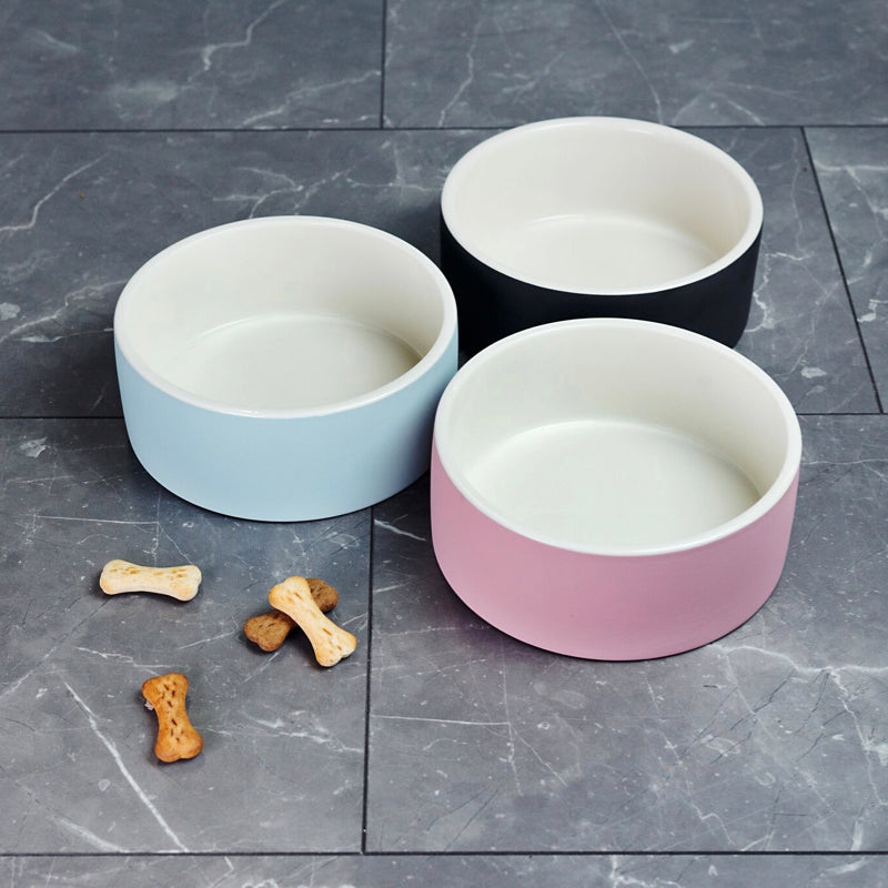 Magisso Pet Water Bowl blue, black and pink