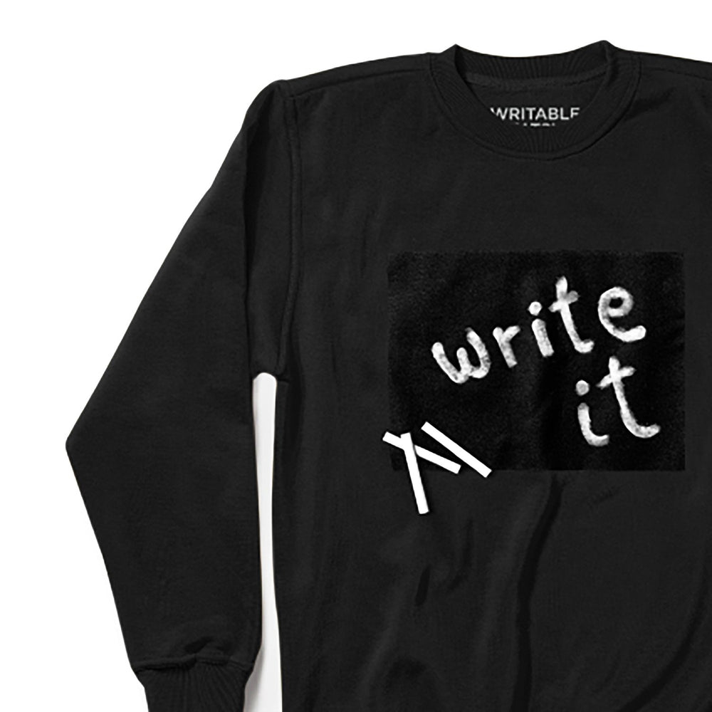 Writable Sweatshirt care instructions