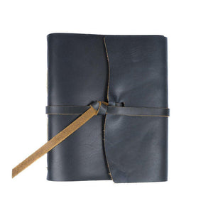 Traveler Leather Flap Tie Journal