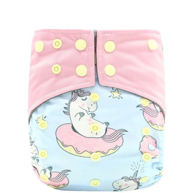 Unicorns and Donuts Pocket Diaper