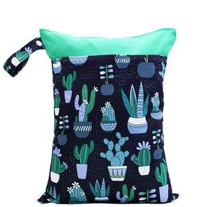 Navy Cactus Wet Bag