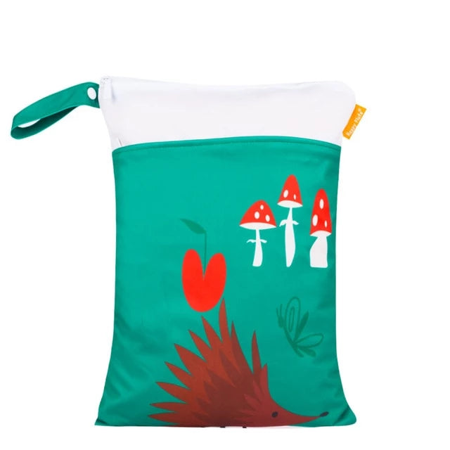 Hedgehog + Toadstools Wet Bag