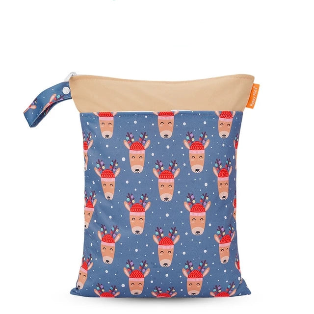 Reindeer Cuties Wet Bag