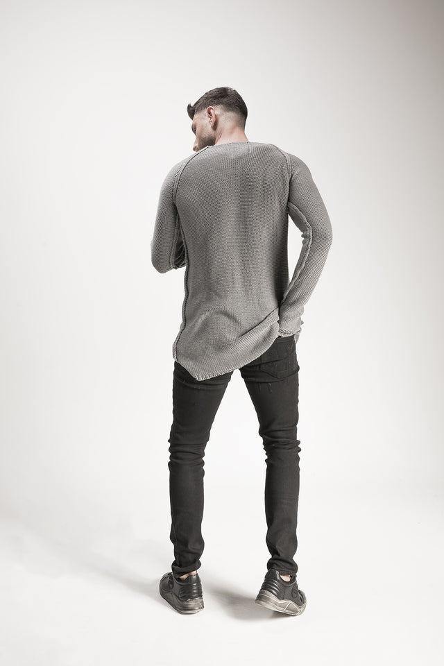 Comfort Cut Torn Sweater //BM16-3005-3