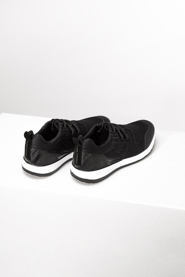 Black Logo Sneakers