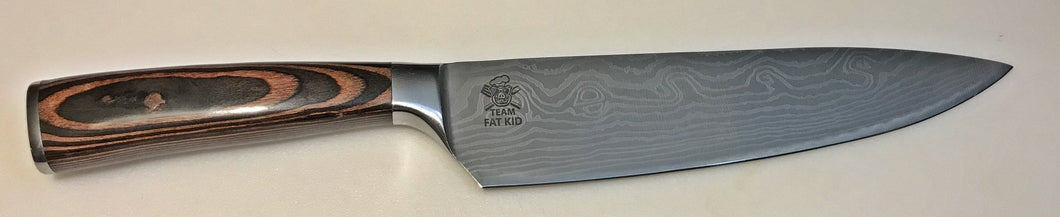 Team Fat Kid Pakka wood handle Chef Knife