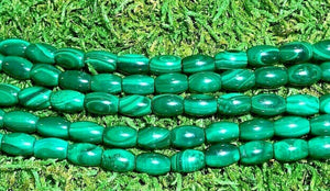 Perles en Malachite ovale (lot de 20)