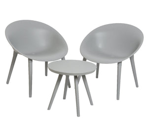 London 2 Seater Set Light Grey