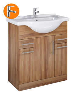 Sonas Belmont Walnut 75Cm Vanity Unit With Nena Tap - * Special Offer
