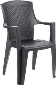 Eden Rattan Effect Chair Anthracite  Stackable