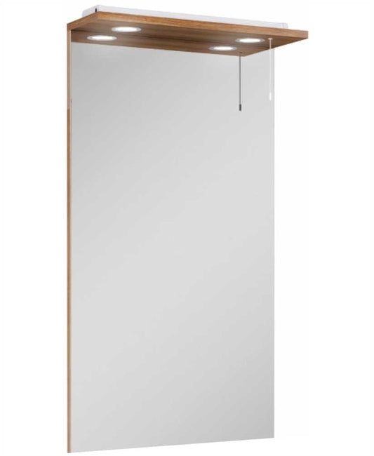 Sonas Belmont 50cm Walnut LED Mirror