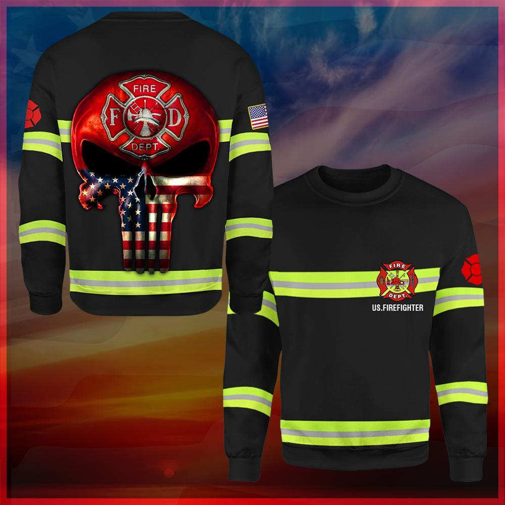 US Firefighter All Over Printed Shirts 032405