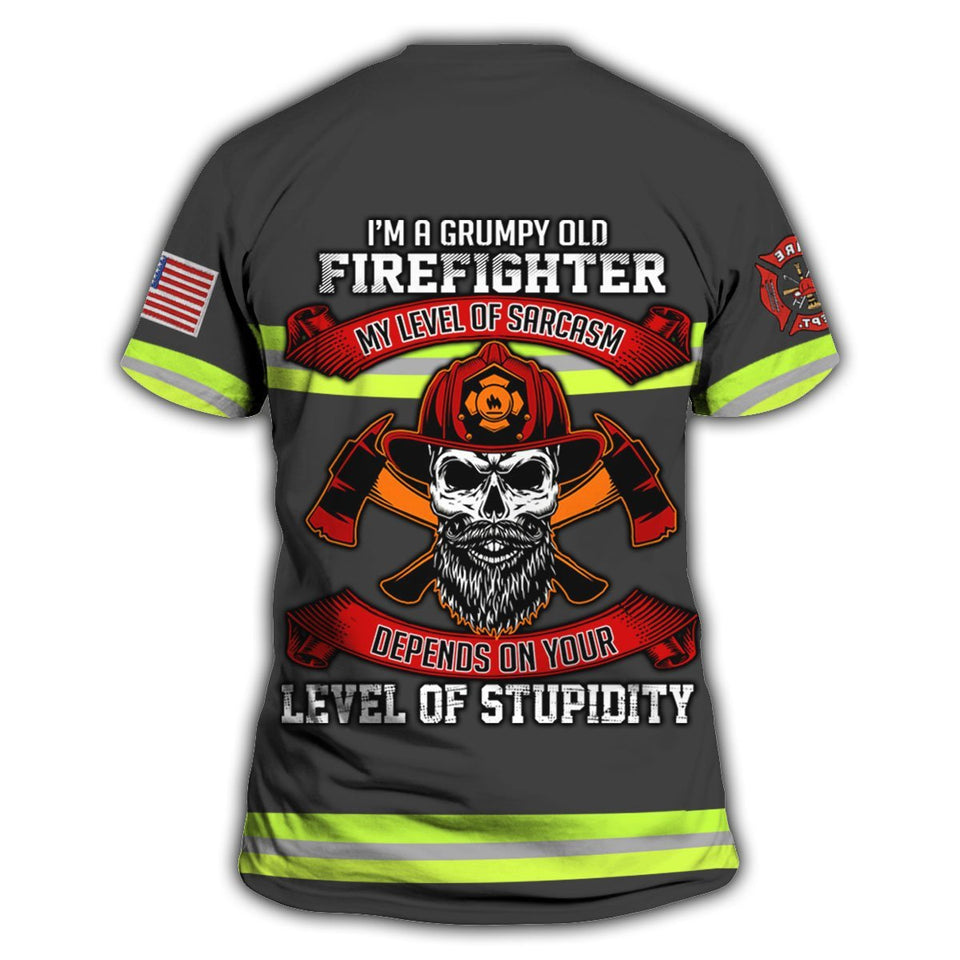 e76fe8fc8a9b ... Hihi Store hoodie XS / T Shirt US Firefighter All Over Printed Shirts  022307 ...