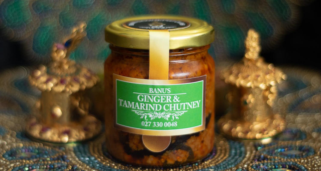 Jar of Banu's Ginger and Tamarind Chutney