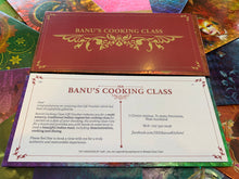 Load image into Gallery viewer, banu's cooking class voucher