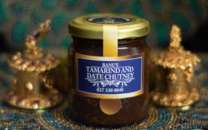 Jar of Banu's Tamarind and Date Chutney.